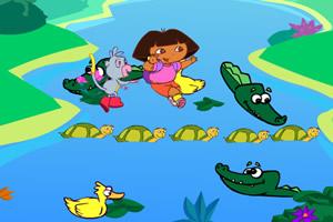 朵拉過鱷魚湖