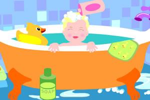 给宝贝洗澡