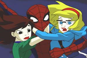蜘蛛俠救女孩