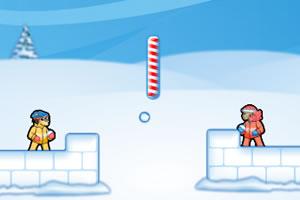 双人雪球战