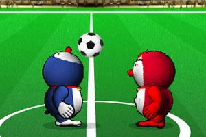 哆啦A梦玩足球