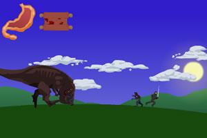 杀僵尸喂恐龙