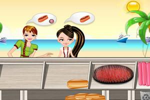 海滩热狗店