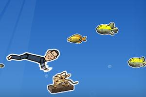 潜水捞金狮