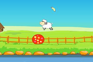 小羊追逐蝴蝶