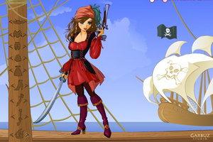 域的美女海盗看起来