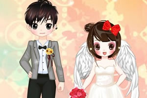 可爱情侣的婚礼