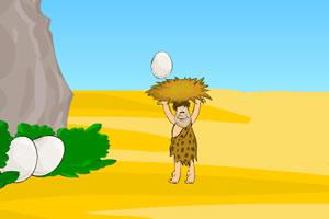 原始人接鸡蛋