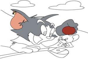 貓和老鼠填色
