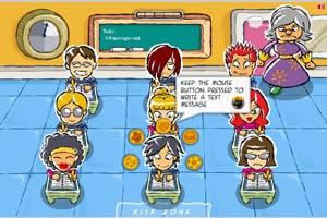 课堂偷偷发短信