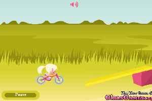 小女生骑自行车2