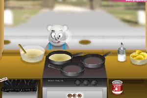 小熊卖烙饼