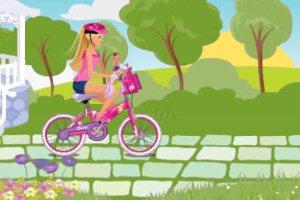 我和芭比骑自行车