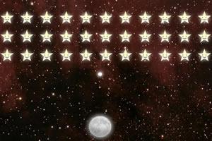 月亮打星星