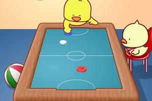 小鸡崽玩桌球