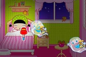 哄女儿睡觉
