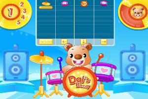 可爱熊架子鼓