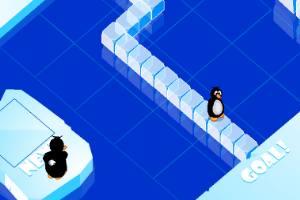 企鵝搭冰橋