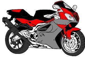 給摩托車填色