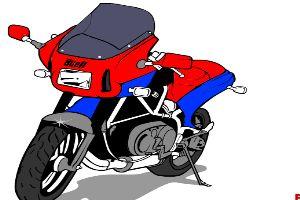 塗裝摩托車