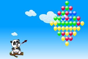 可愛小熊射氣球