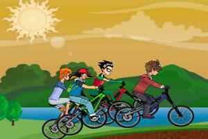 卡通自行車聚會