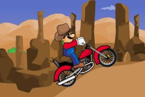 牛仔馬里奧騎摩托