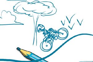 素描自行車賽
