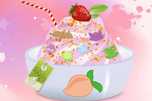 點綴酸奶冰淇淋
