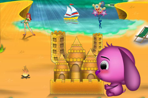 嘟嘟建沙灘城堡