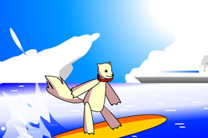 麗奈海上衝浪