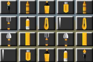 黄色工具记忆翻牌