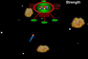 卫星击落陨石