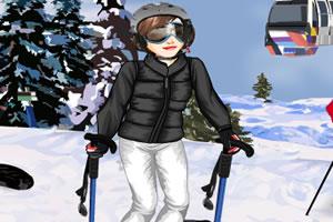 爱滑雪的女生