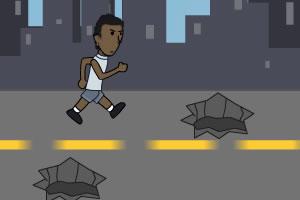 街头跑步练习
