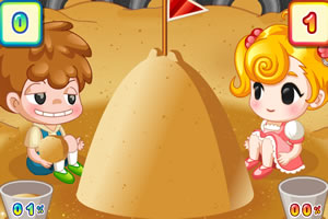 小美沙滩玩耍